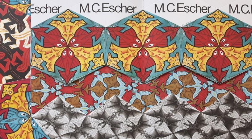 Fotomontage von Kaleidozyklen M.C.Eschers