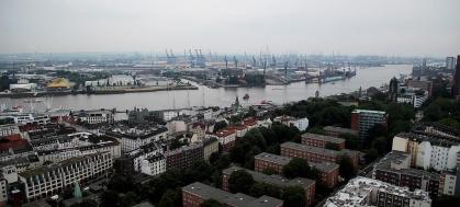 Blick vom Michel in Hamburg