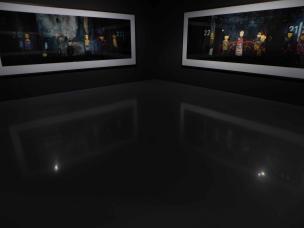 Ausstellungsraum im Museum Kunstpalast in Düsseldorf, Wim Wenders Landschaften. Fotografien.