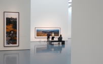 Ausstellungsraum im Museum Kunstpalast in Düsseldorf, Wim Wenders Landschaften. Fotografien.