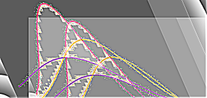 Gaußsche Kurve parallelverschoben