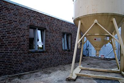 Der Neubau ist schon erkennbar
