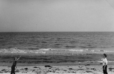 Damals am Strand