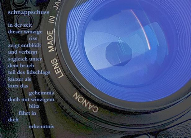 kamera mit geöffneter blende