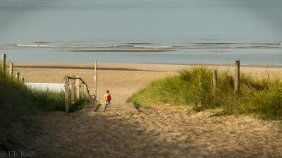 Person am Strand