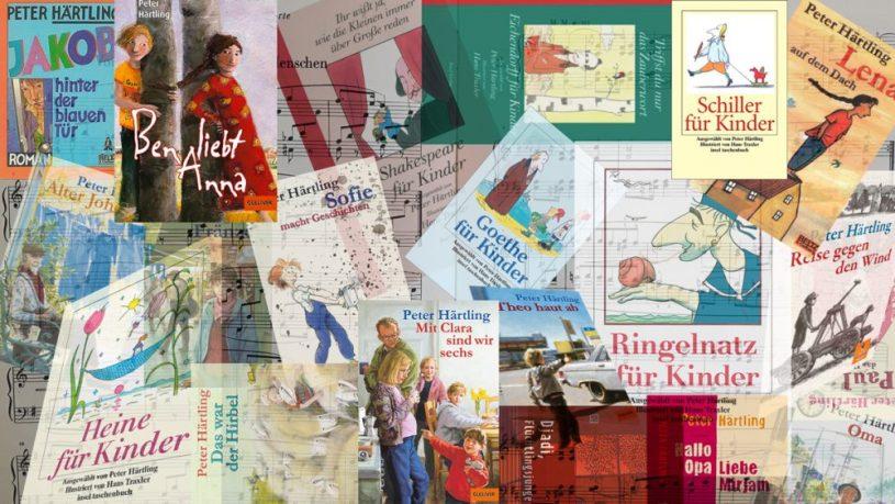 Collage aus Härtlings Kinderbüchern
