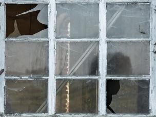 Fenster der alten Zimmerei in der Mergelkuhle im Münsterland