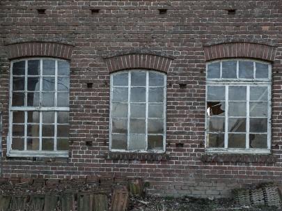 Fenster der alten Zimmerei in der Mergelkuhle