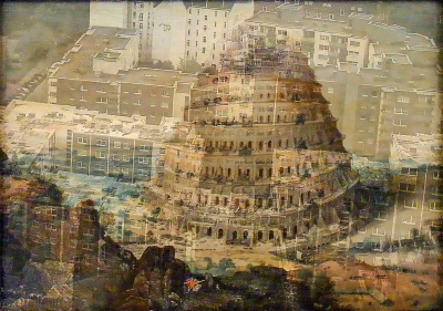 Babel und Hamburg - Collage