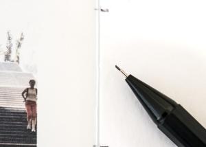 Stift mit Buchseite