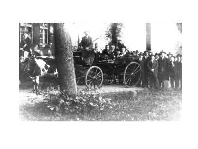 Wagen des Schützenkönigs beim Schützenfest Carriage of the Schützenkönig at the Schützenfest